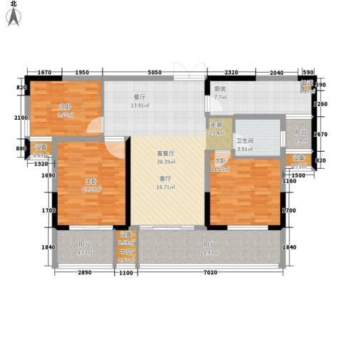 建业凯旋广场3室1厅1卫1厨111.00㎡户型图