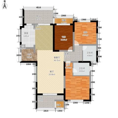 建业凯旋广场3室1厅2卫0厨129.00㎡户型图