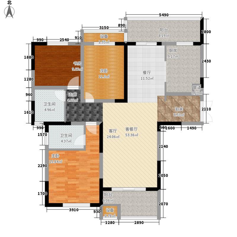建业凯旋广场134.47㎡C-1户型