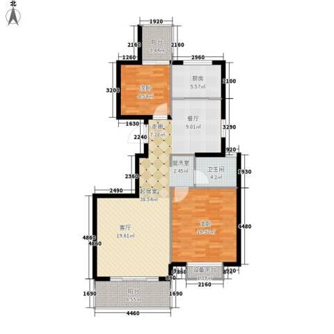 新城国际・兰溪谷2室0厅1卫1厨119.00㎡户型图