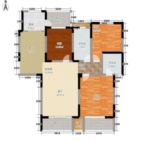 建业凯旋广场3室0厅2卫0厨145.00㎡户型图