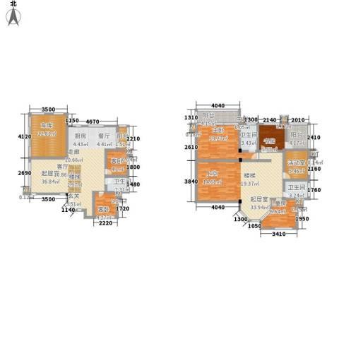 同升湖白竹水乡5室0厅3卫0厨207.00㎡户型图