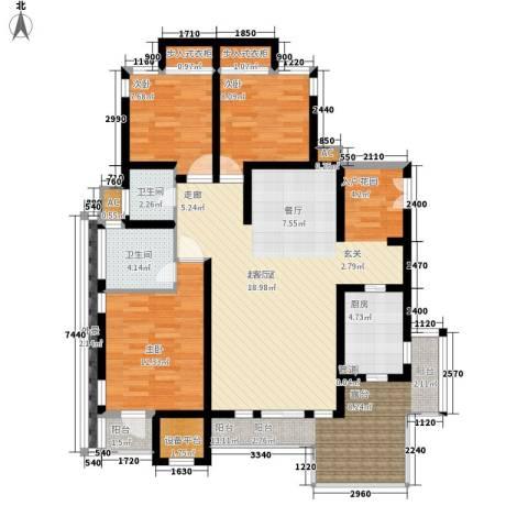 同天依云郡3室0厅2卫1厨118.00㎡户型图