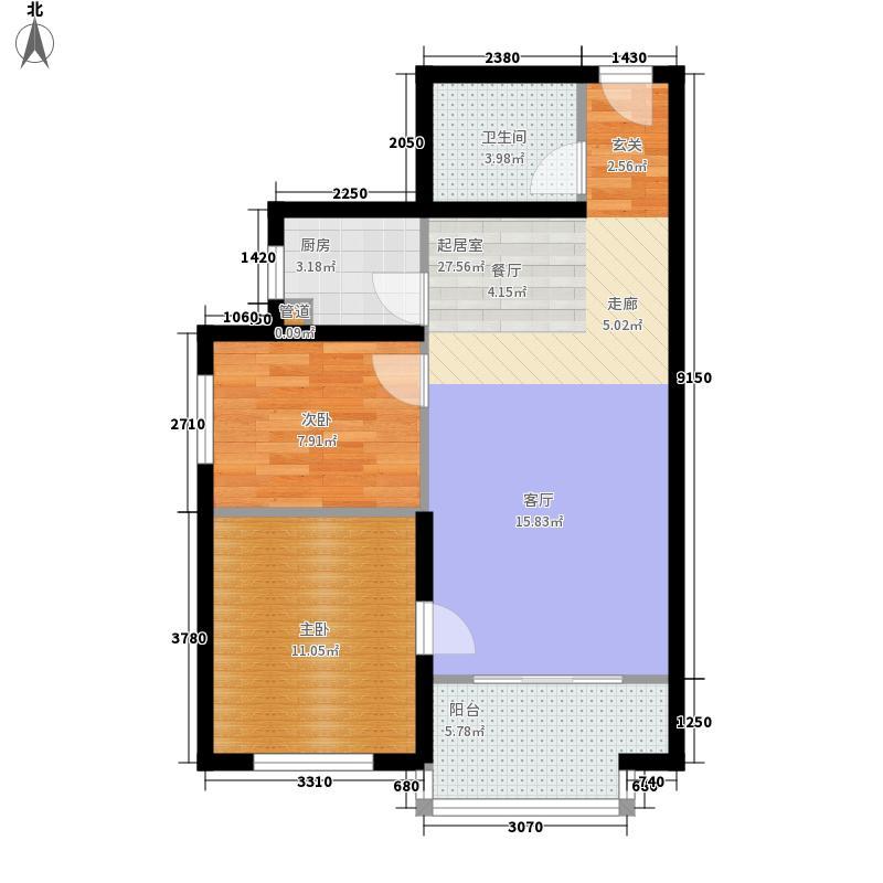 湖岸新城湖岸新城户型图Za户型2室2厅1卫1厨户型2室2厅1卫1厨