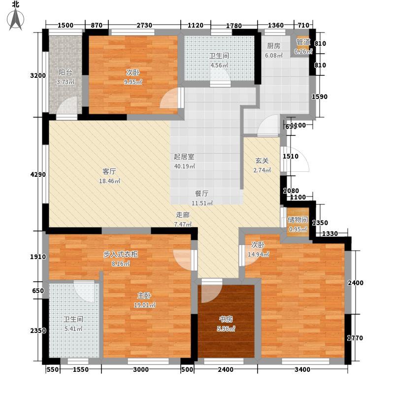 紫桂花园户型图4室 户型图 4室2厅2卫1厨
