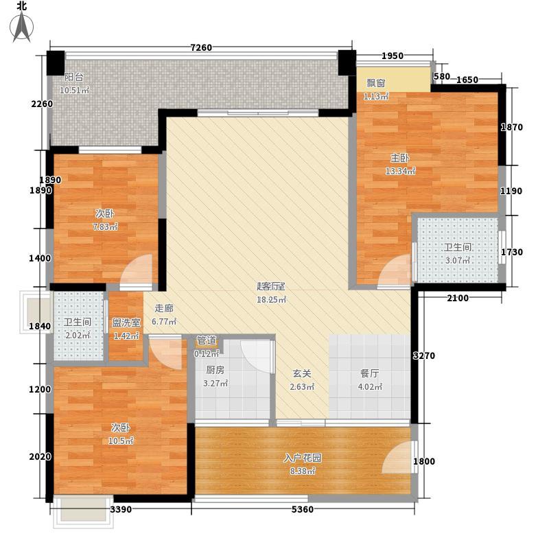 东骧神骏二期108.05㎡望景苑A5户型3室2厅2卫1厨