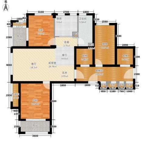 绿城翡翠湾2室0厅1卫1厨104.81㎡户型图