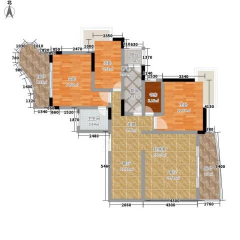 伴山名都4室0厅1卫1厨121.00㎡户型图