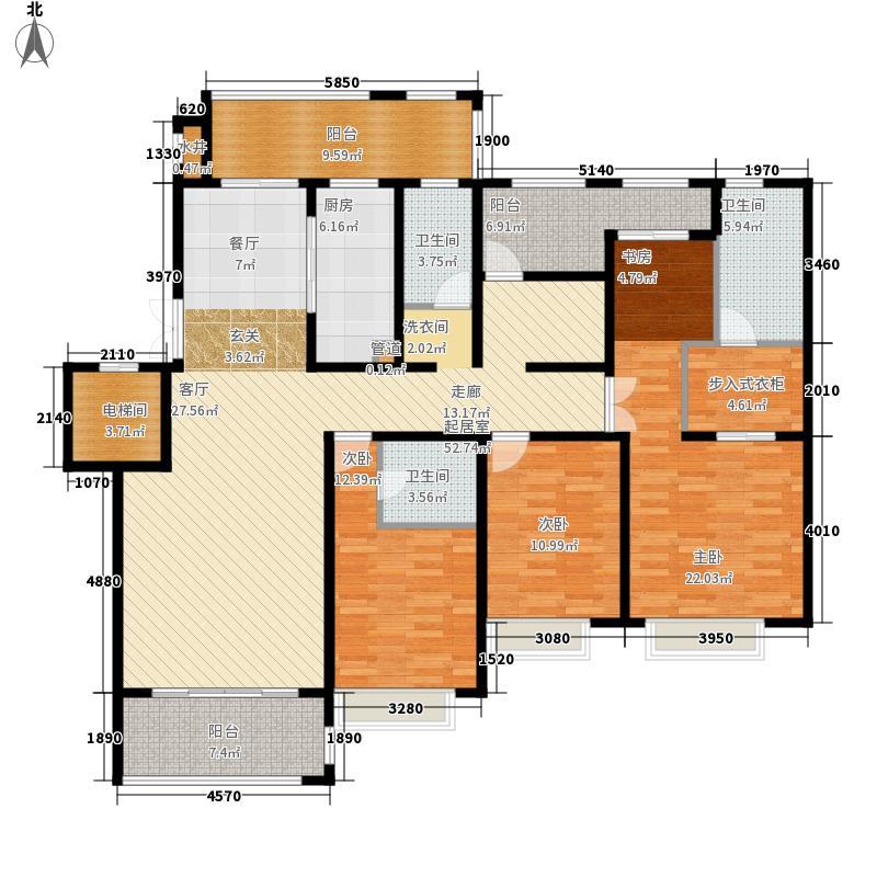 绿地乔治庄园169.00㎡绿地乔治庄园户型图二期花园洋房169平米户型4室2厅3卫1厨户型4室2厅3卫1厨