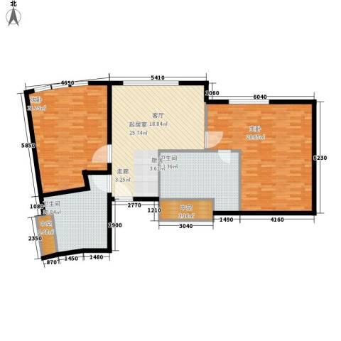 天津中心2室0厅2卫0厨144.00㎡户型图