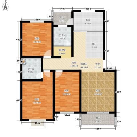 鑫科苑3室1厅2卫1厨148.00㎡户型图