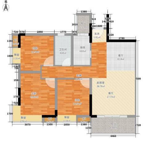 东田丽园五期3室0厅1卫1厨98.87㎡户型图