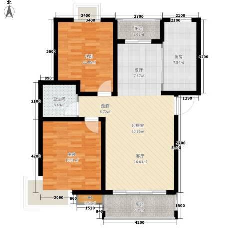 华山半导体家属院2室0厅1卫1厨108.00㎡户型图