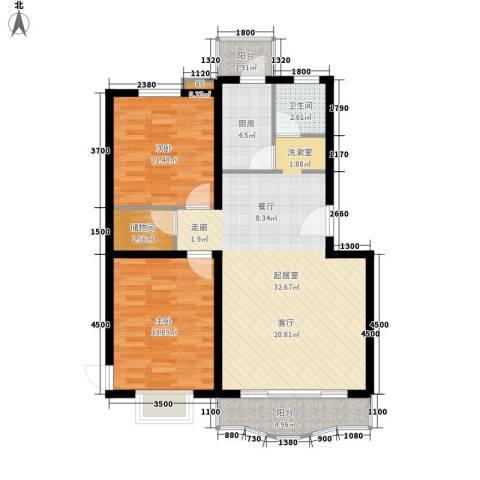 华山半导体家属院2室0厅1卫1厨106.00㎡户型图