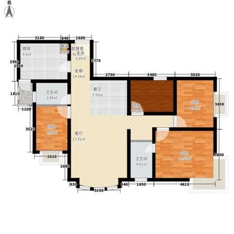 宏远时代广场4室0厅2卫1厨147.00㎡户型图
