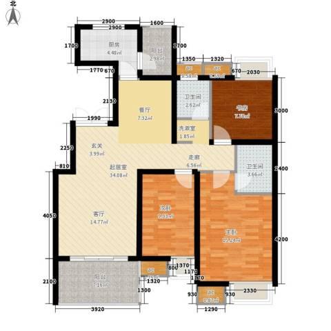 伟基大厦3室0厅2卫1厨130.00㎡户型图