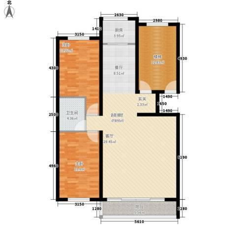 学府世家2室0厅1卫1厨114.00㎡户型图