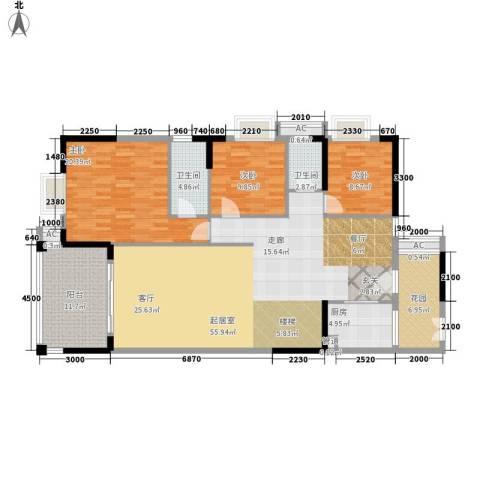 威斯登堡3室0厅2卫1厨259.00㎡户型图