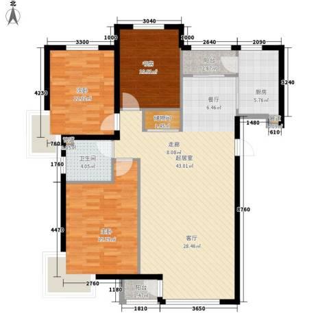 凯荣国际花园3室0厅1卫1厨136.00㎡户型图
