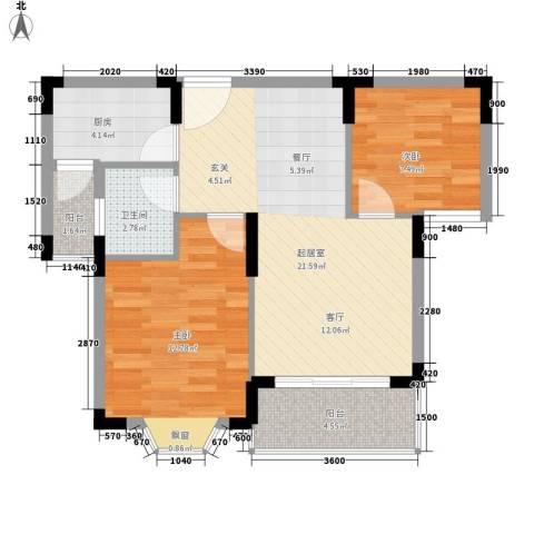 中行家属院2室0厅1卫1厨78.00㎡户型图