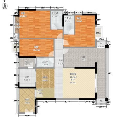 威斯登堡3室0厅3卫1厨160.00㎡户型图