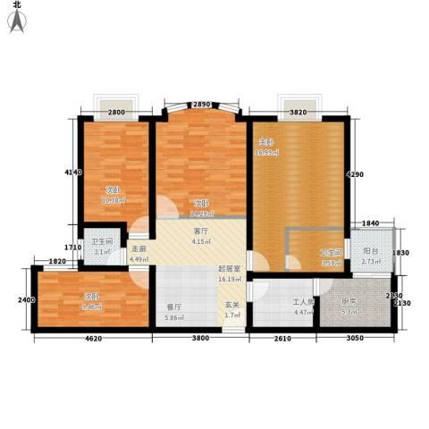 宏远时代广场4室0厅2卫1厨124.00㎡户型图