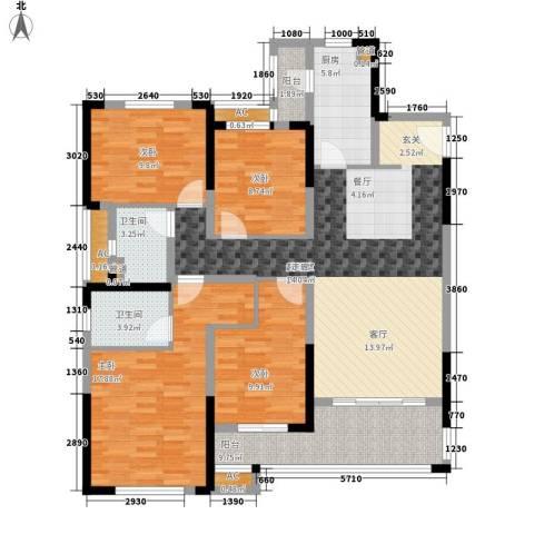 中海国际社区4室0厅2卫1厨139.00㎡户型图