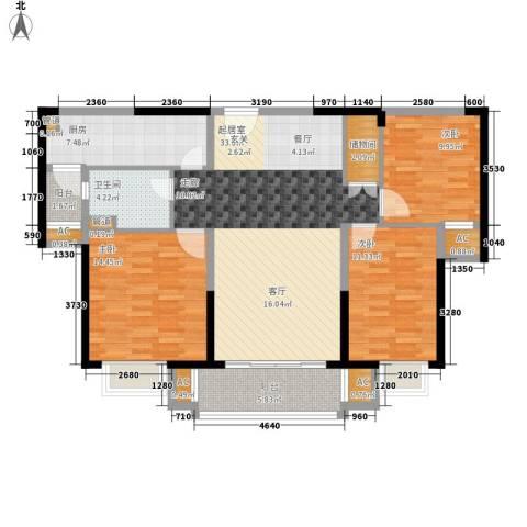 中海国际社区3室0厅1卫1厨134.00㎡户型图