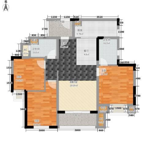 中海国际社区3室0厅2卫1厨118.00㎡户型图