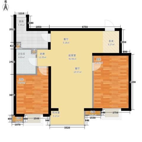 宏远时代广场2室0厅1卫1厨145.00㎡户型图