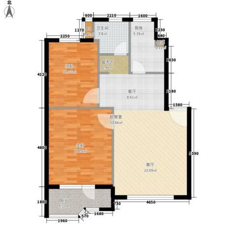 锦绣暖山2室0厅1卫1厨87.00㎡户型图
