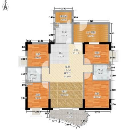 富洋楼4室1厅2卫1厨110.00㎡户型图
