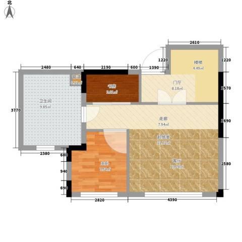 富洋楼2室0厅1卫0厨60.00㎡户型图