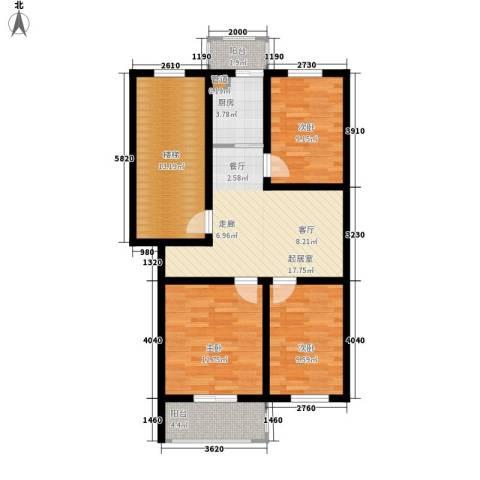 金美程家园3室0厅0卫1厨79.00㎡户型图