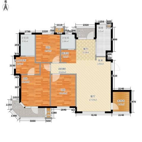 锦绣暖山3室0厅2卫1厨128.00㎡户型图
