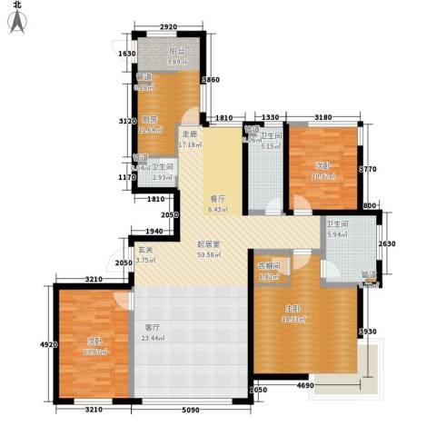 宏远时代广场3室0厅3卫1厨136.00㎡户型图