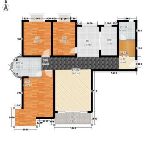卓达星辰一号3室0厅2卫1厨154.00㎡户型图