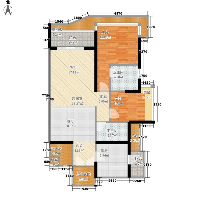 逸翠湾102.25㎡第五座26-35层04单面积10225m户型