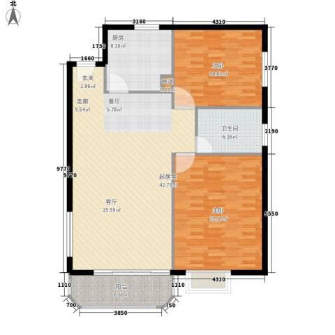 瞿溪新村2室0厅1卫1厨138.00㎡户型图
