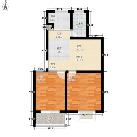 徽州家园2室0厅1卫1厨79.00㎡户型图