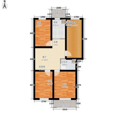 金美程家园3室0厅1卫1厨78.00㎡户型图