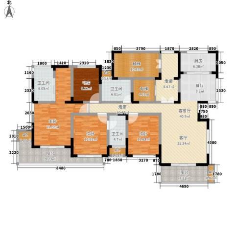 新港名墅花园4室1厅3卫1厨190.00㎡户型图