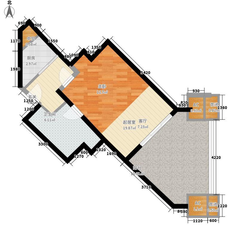 东和福湾68.57㎡东和福湾户型图公寓A2户型1室1厅1卫1厨户型1室1厅1卫1厨