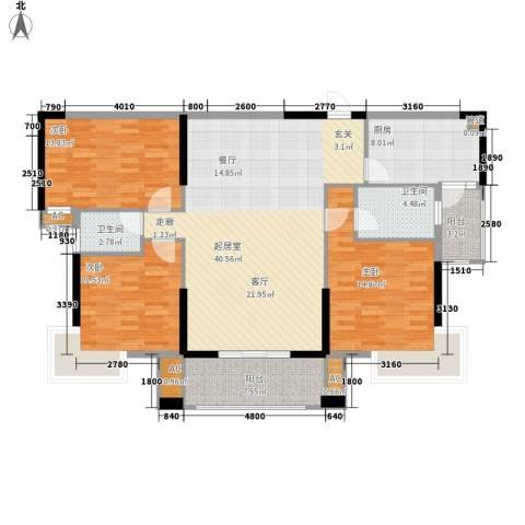 翠景湾3室0厅2卫1厨130.00㎡户型图