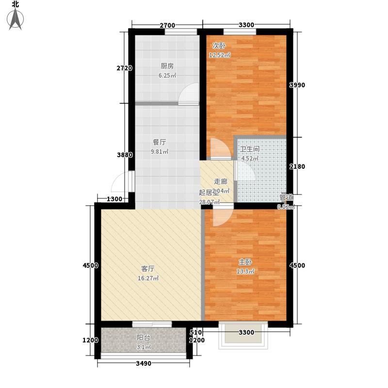 自来水公司菜园公寓102.00㎡自来水公司菜园公寓2室户型2室