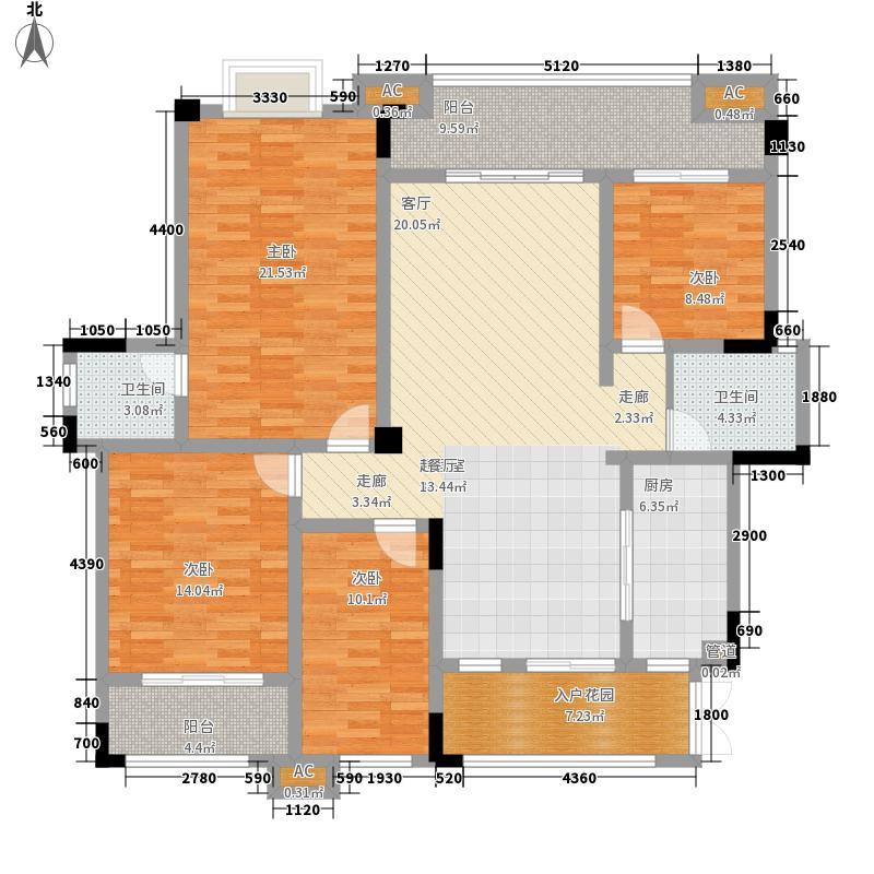 协信城立方130.00㎡二期洋房8、9栋F1户型