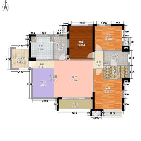 汇金园3室0厅2卫1厨159.00㎡户型图