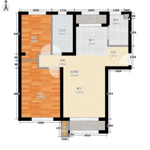 佳和新城六期2室0厅1卫1厨98.00㎡户型图
