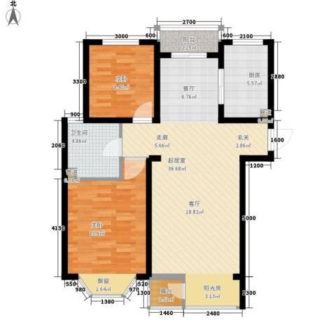佳和新城六期2室0厅1卫1厨105.00㎡户型图
