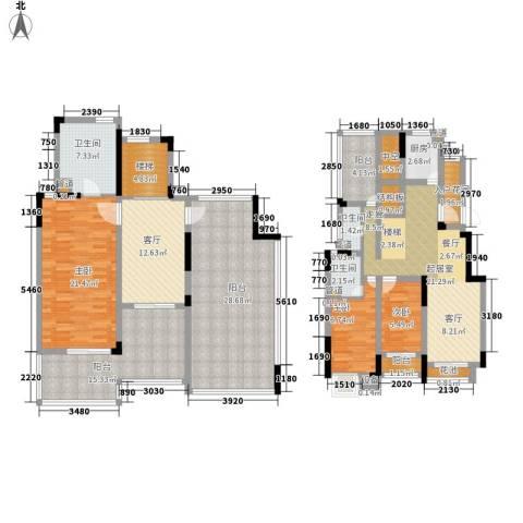 世茂公元3室1厅3卫1厨170.00㎡户型图